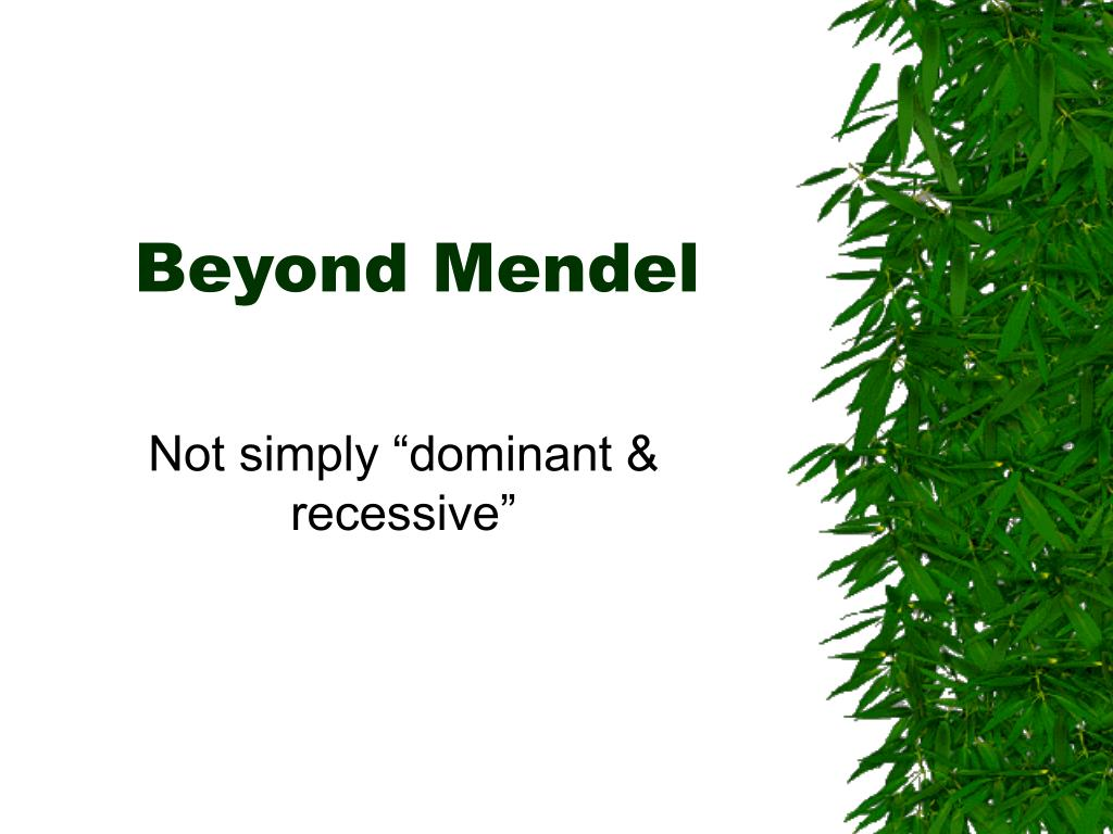 beyond mendel l.