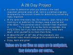 a 28 day project