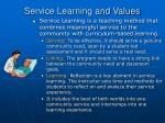 service learning and values