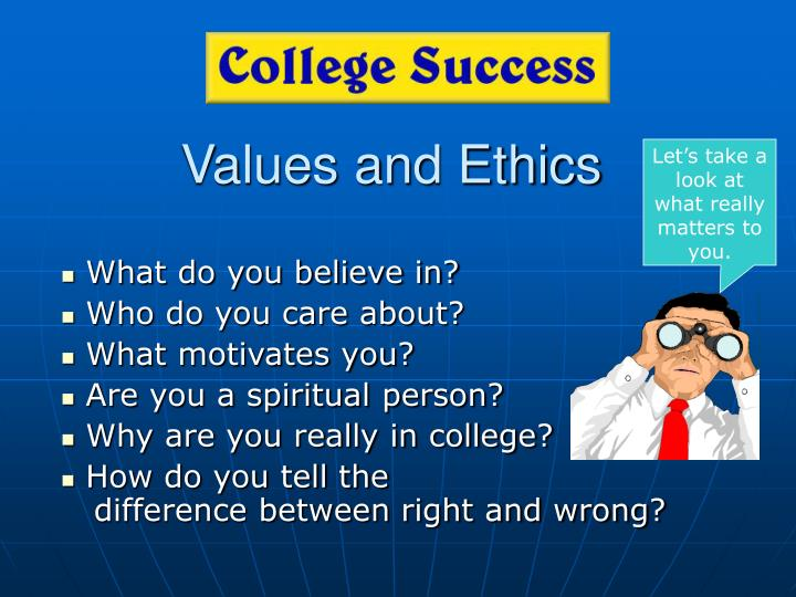 values and ethics n.