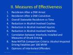 ii measures of effectiveness