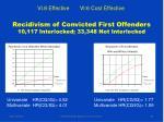 recidivism of convicted first offenders 10 117 interlocked 33 348 not interlocked