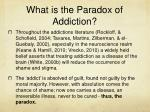 what is the paradox of addiction