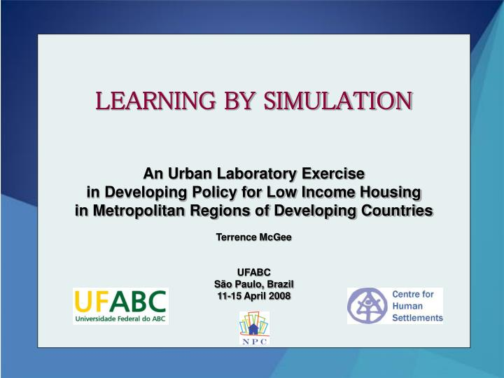 learning by simulation n.