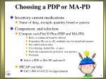 choosing a pdp or ma pd