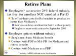 retiree plans