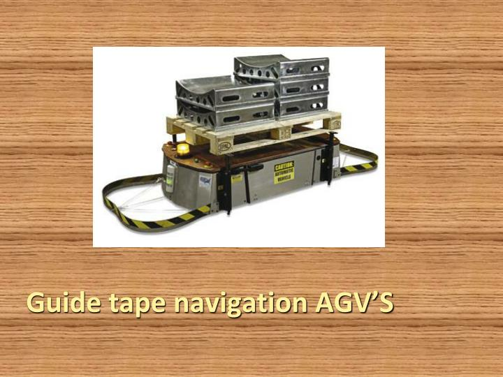 Guide tape navigation AGV'S