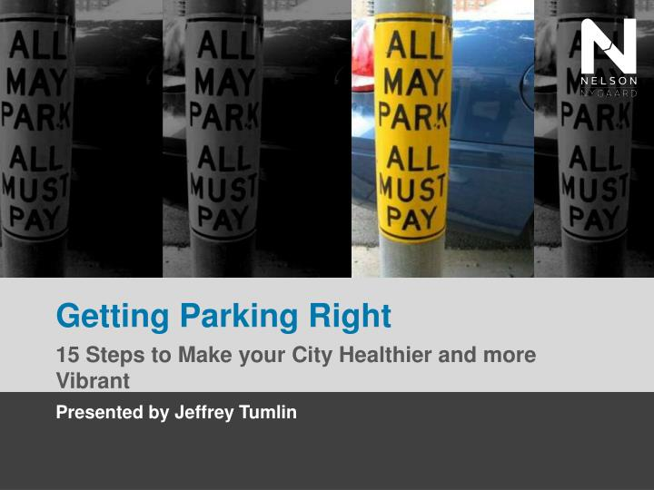 getting parking right n.
