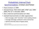 probabilistic internal clock synchronization cristian and fetzer