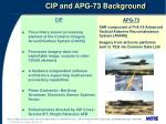 cip and apg 73 background