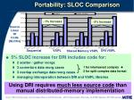 portability sloc comparison