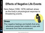 effects of negative life events