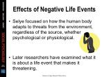 effects of negative life events1