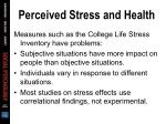 perceived stress and health