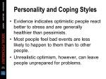 personality and coping styles