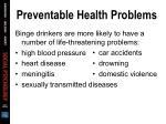 preventable health problems2