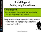 social support getting help from others