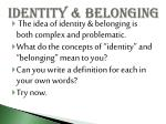 identity belonging