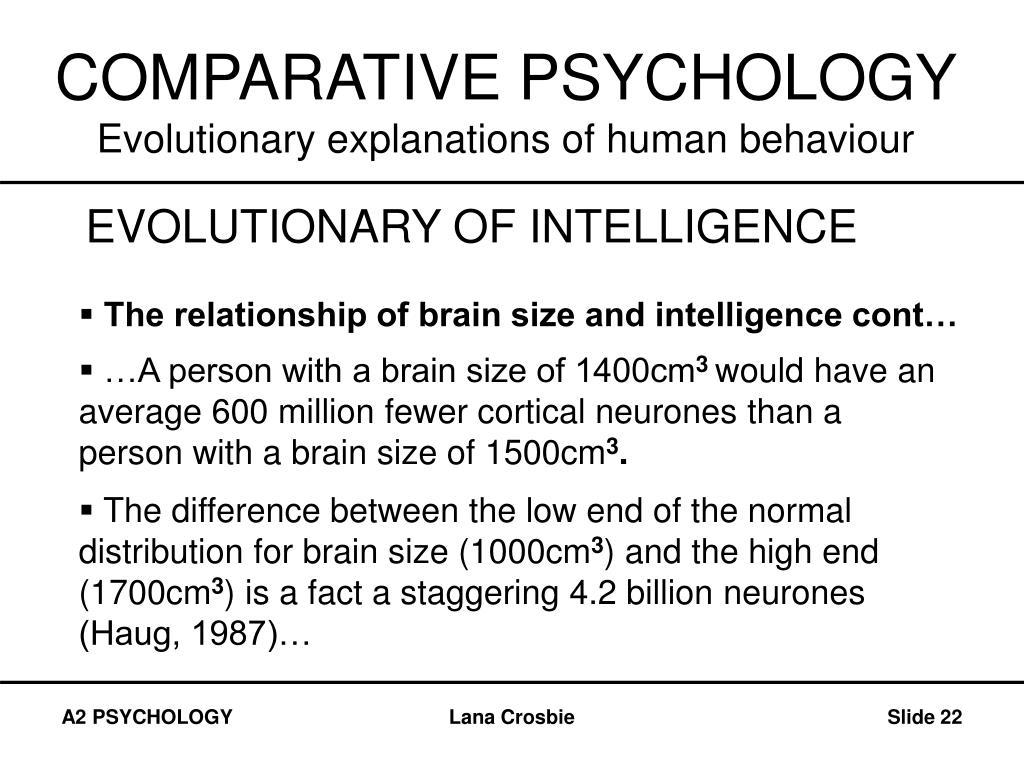 COMPARATIVE PSYCHOLOGY