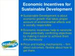 economic incentives for sustainable development1