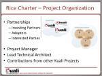 rice charter project organization