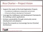 rice charter project vision