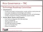 rice governance trc