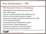 rice governance trc1