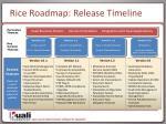 rice roadmap release timeline1