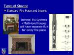 types of stoves