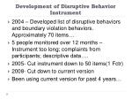 development of disruptive behavior instrument