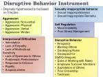 disruptive behavior instrument1