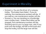 experiment in morality
