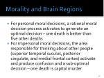 morality and brain r egions