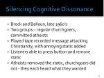 silencing cognitive d issonance