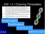 jdk 1 4 chaining throwables