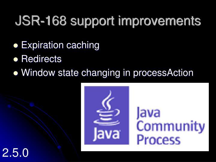 JSR-168 support improvements