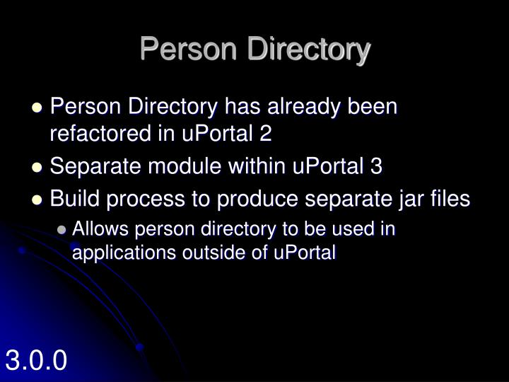 Person Directory
