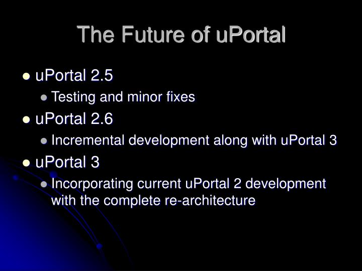 The Future of uPortal