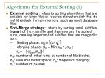 algorithms for external sorting 1