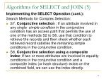 algorithms for select and join 5