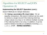 algorithms for select and join operations 4