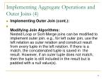 implementing aggregate operations and outer joins 4