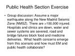 public health section exercise