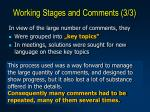 working stages and comments 3 3