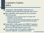 legislative update idea