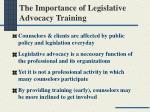 the importance of legislative advocacy training
