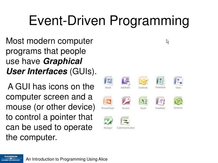 Event driven programming1