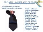 croatia homeland of cravats