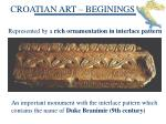 croatian art beginings